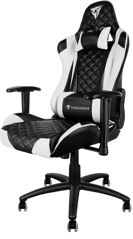 ThunderX3 Spain TGC12BW Silla gaming profesional, Blanco: Amazon.es: Hogar