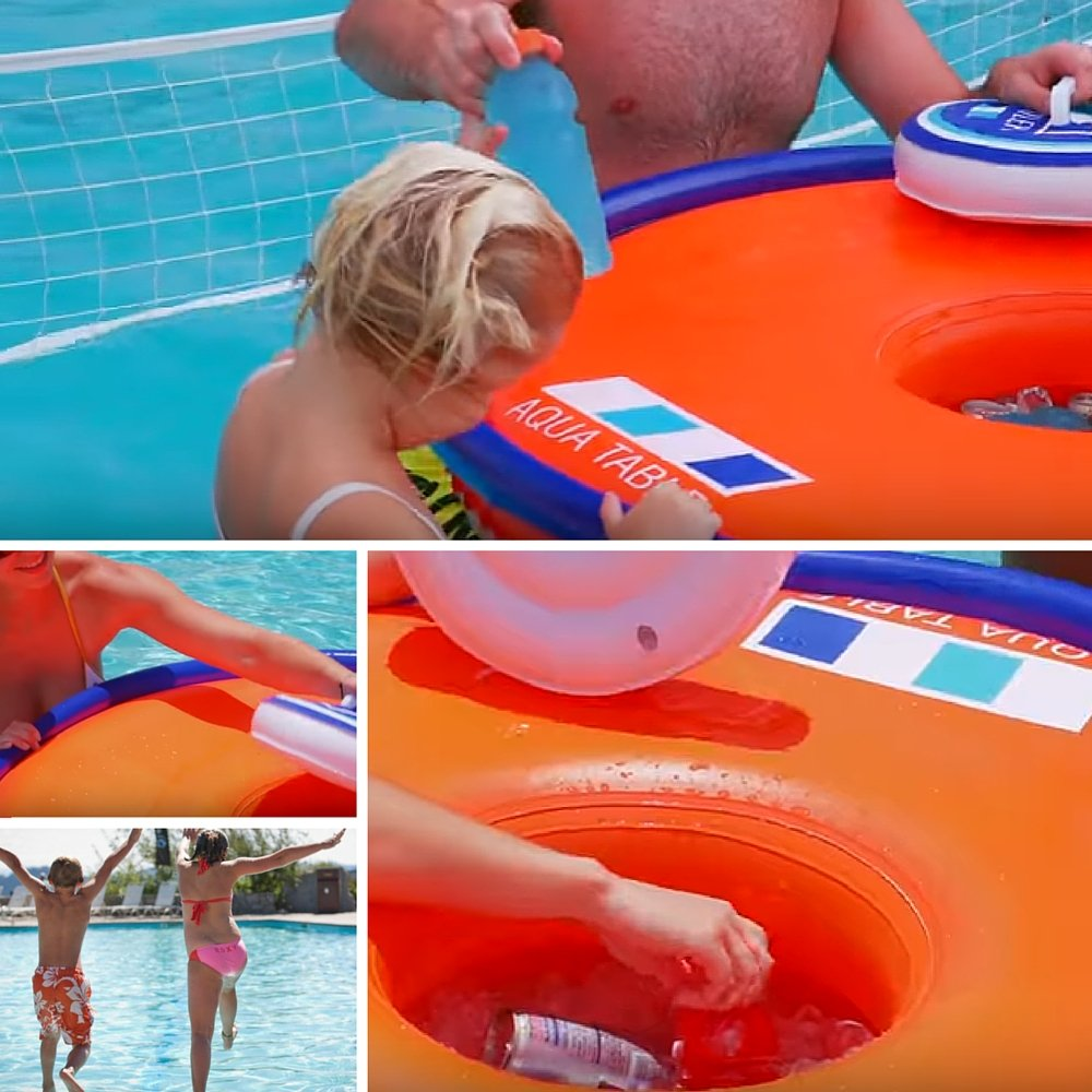 Amazon inflatable pool party table floating picnic table amazon inflatable pool party table floating picnic table inflatable beer table floating aqua table pool bar cooler with drain port party island watchthetrailerfo