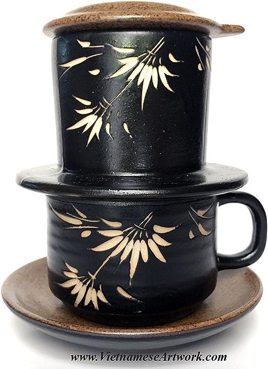 Cafetera eléctrica de cerámica, hecho a mano juego de cerámica ...
