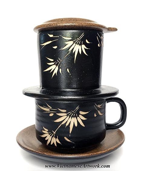 Cafetera eléctrica de cerámica, hecho a mano juego de cerámica para hacer café vietnamita