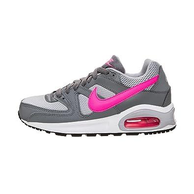 Nike Mädchen Air Max Command Gs Grau Textil Leder Sneaker