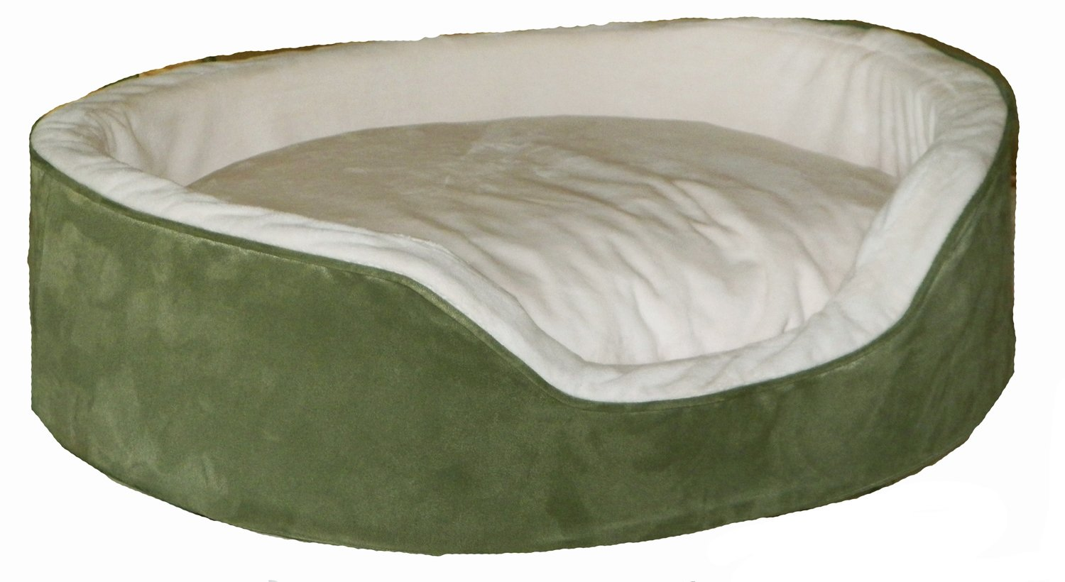 Pampered Pets Oval Bed, X-Large, Sage Green