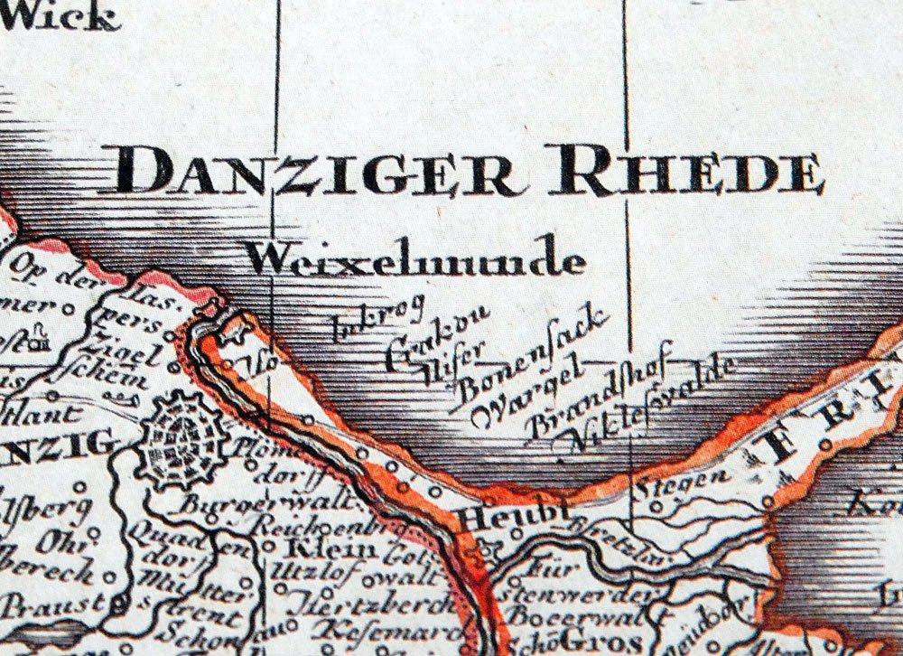 Reprint Ostpreussen 1740 Historische Karte