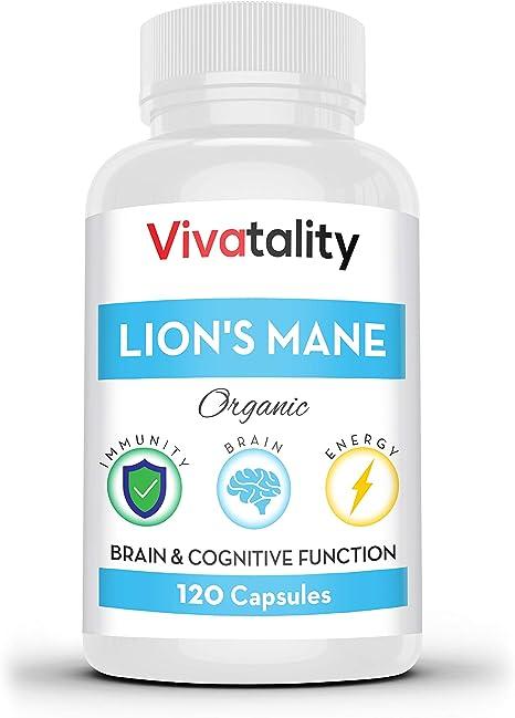 Lions Mane Nootropics Memory Supplement Capsules
