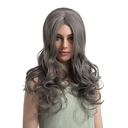 Rifuli® - Peluca larga con forma de onda n.º Lace frontal, peluca ...
