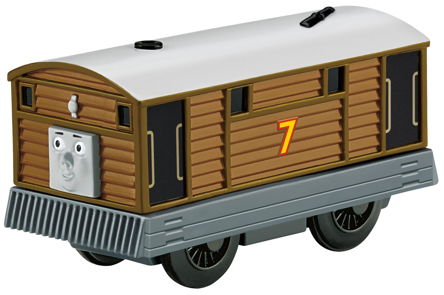 Thomas & Friends Fisher-Price Wooden Railway, Battery-Operated Toby