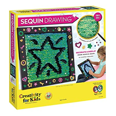 Creativity for Kids Sequin Drawing Board, Pack of 1: Toys & Games