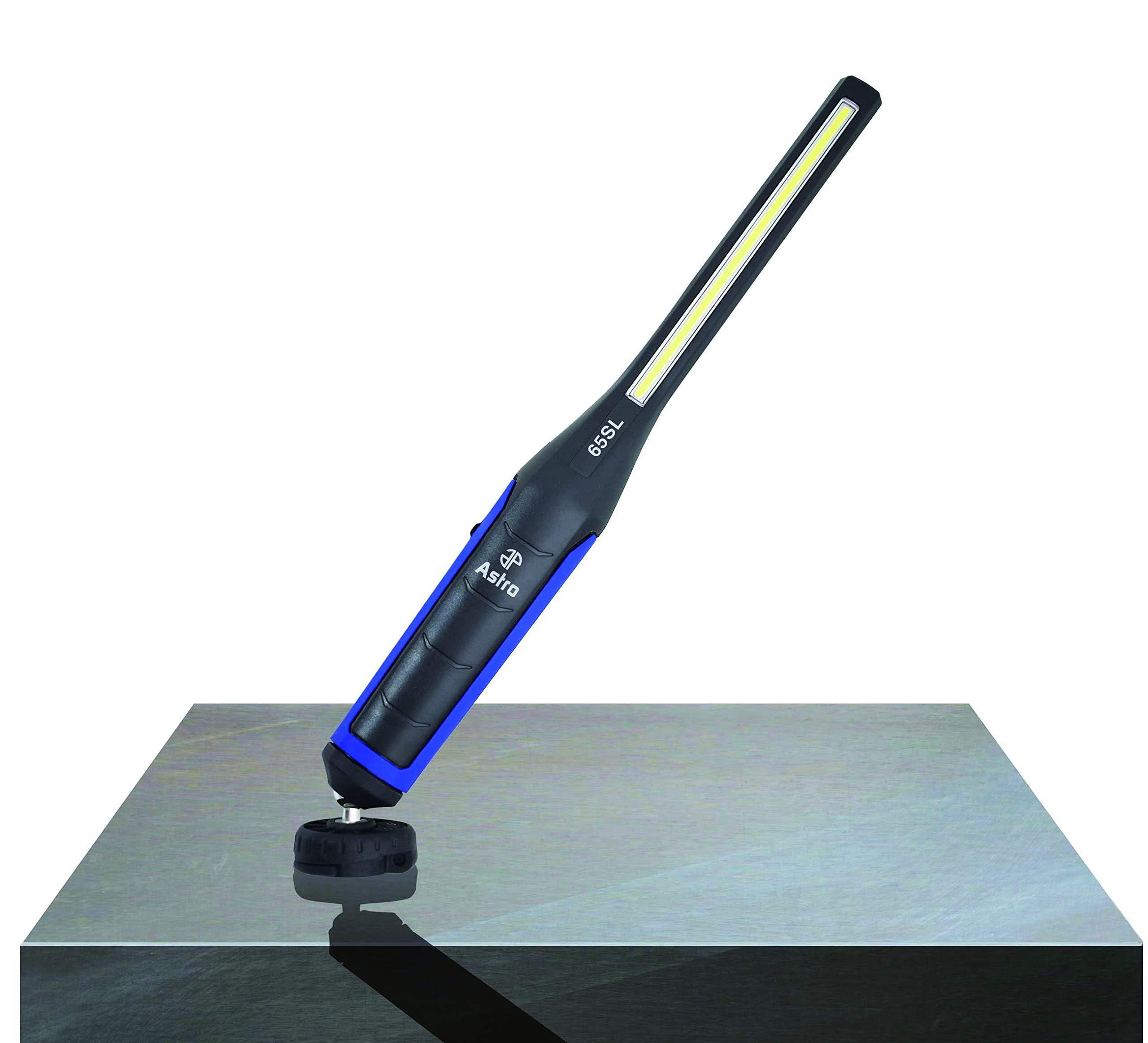 Astro Pneumatic Tool 65SL 650 Lumen Rechargeable LED Slim Light W/Top Flashlight