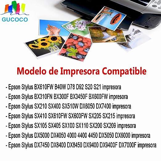 GUCOCO Reemplazo Cartuchos de Tinta para Epson T7015 Compatible con Stylus D78 D92 DX4050 DX5050 DX6000 DX7450 DX8450 DX9400F B40W BX310FN BX610FW S20 ...