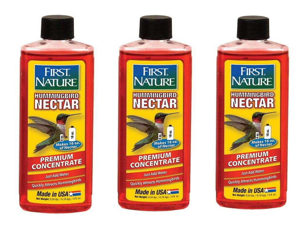 3-Pack First Nature 3056 Red Hummingbird Nectar Concentrate (Makes 16 oz. of Feed Each) 4 oz.
