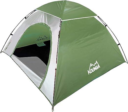 Kounga Sabas Nieves 2 Tienda de campaña, Adultos Unisex, Verde/Gris, Maleta Cabina: Amazon.es: Deportes y aire libre