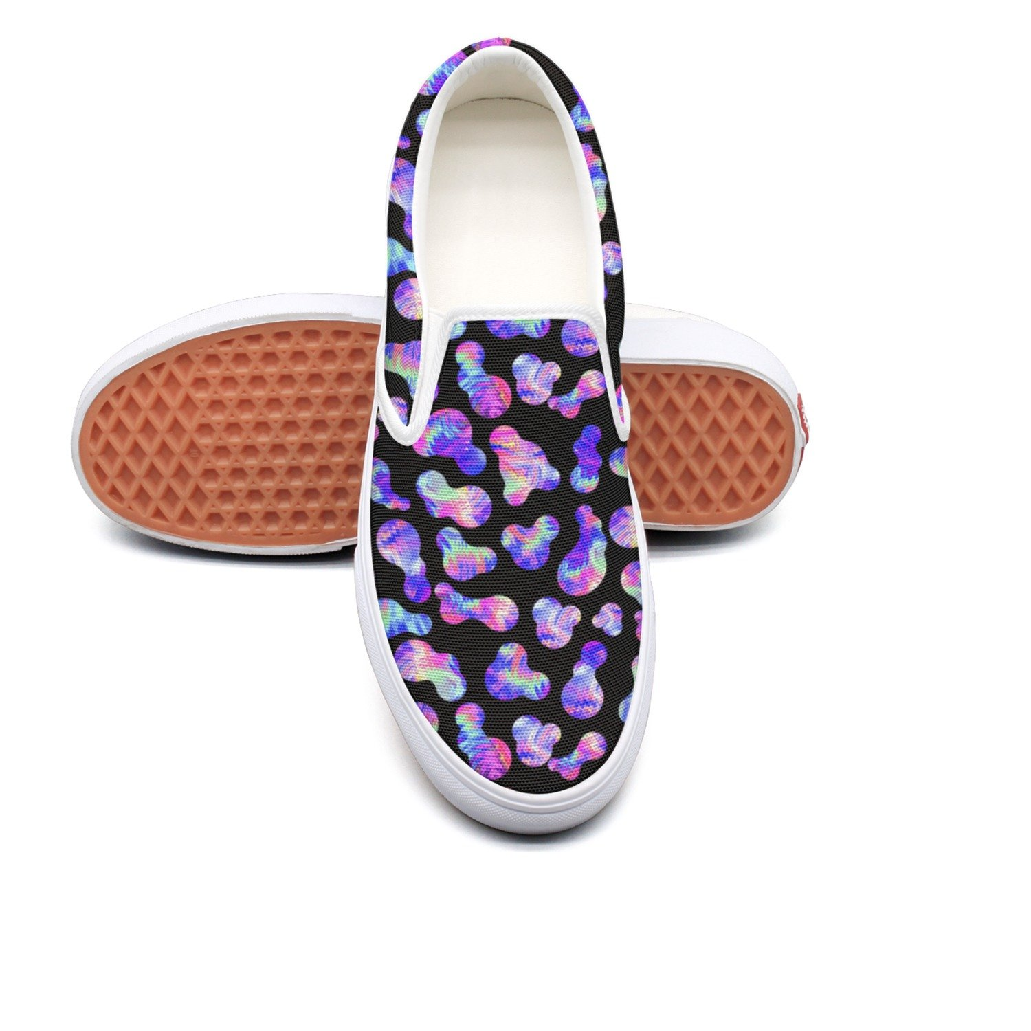 seventtynine Black Abstract Background Pattern Classic Womens Canvas Slip-On Shoes Sneaker