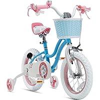 RoyalBaby Girls Kids Bike Stargirl 12 14 16 18 Inch Bicycle 3-9 Years Old Basket Training Wheels Kickstand Pink Blue…