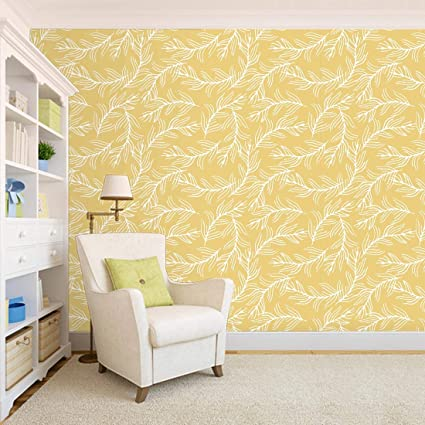 100yellow Leafs Layers With Yellow Colour Self Adhesive Peel