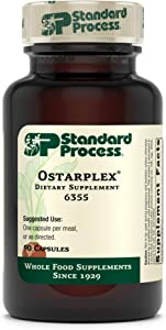 Standard Process Ostarplex - Whole Foods Bone Health and Bone Support, Liver Support with Betaine Hydrochloride, Soy Protein, Arrowroot Flour, Ammonium Chloride, Alfalfa, and More - 90 Capsules