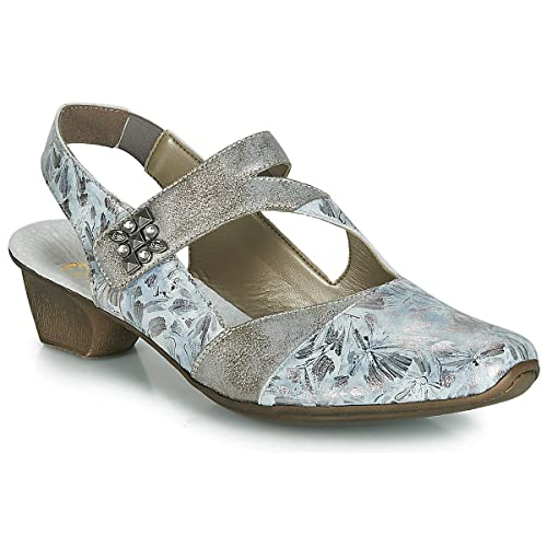 Cheville Gris Zelda Bas Sangle 49787 Chaussures En Talon Rieker 90 bfv6IY7gy