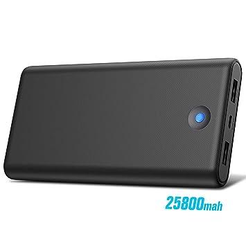 Trswyop Batería Externa para Móvil 25800mAh【Colorido Diseño de Indicador LED】 Power Bank Alta Velocidad con 2 Puertos USB Cargador Portátil Alta ...