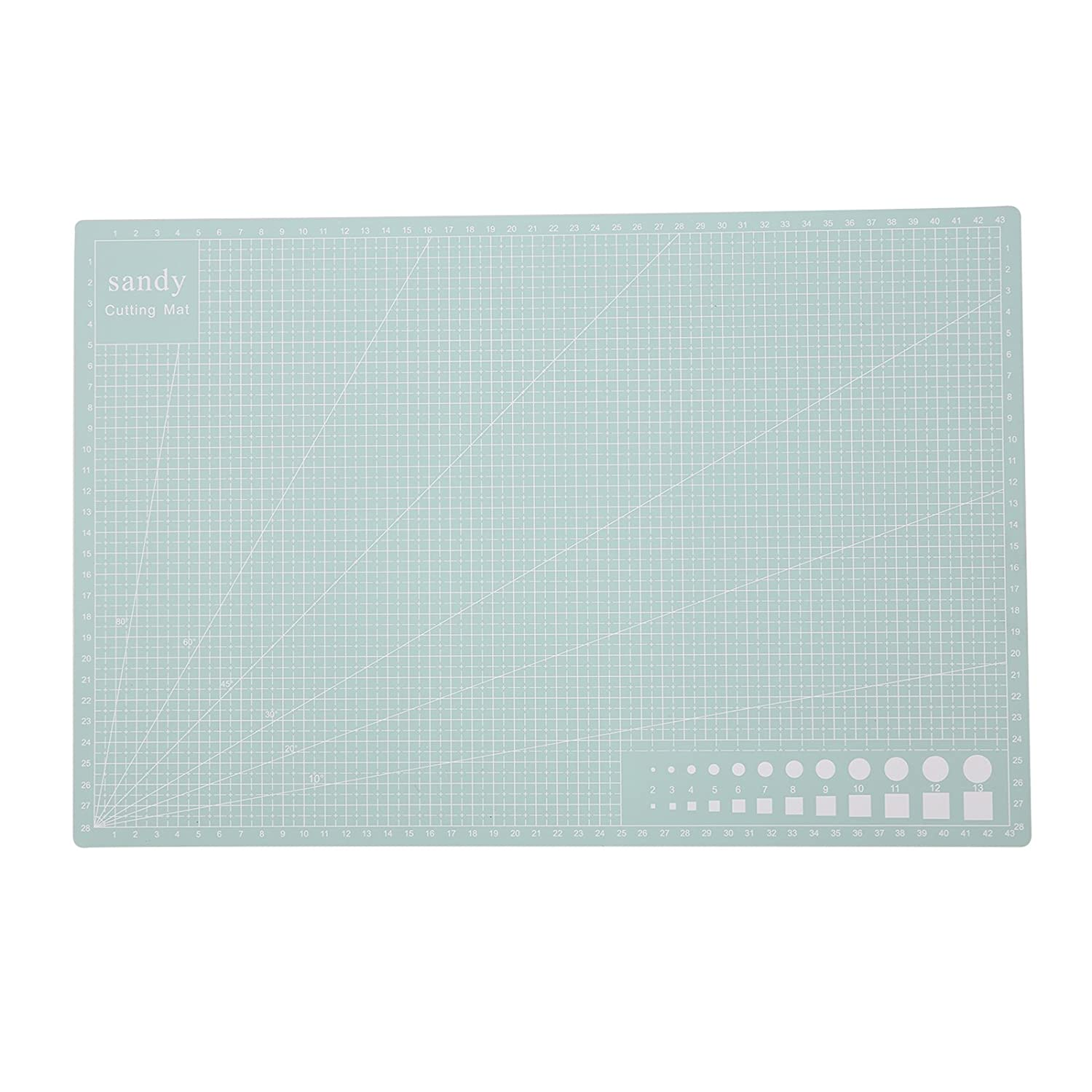 DHOUTDOORS A3 Cutting Mat Self Healing Non Slip Craft Quilting Printed Grid Lines Mint Green oem