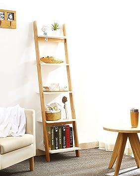 ZENGAI Trapecio Estantería Estantes de flores de madera maciza La esquina estante para libros Escaparate Plantas en macetas Soporte de exhibición, ...