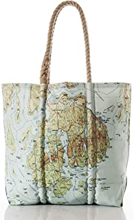 product image for Sea Bags Recycled Sail Cloth Antique Bar Harbor Map Tote