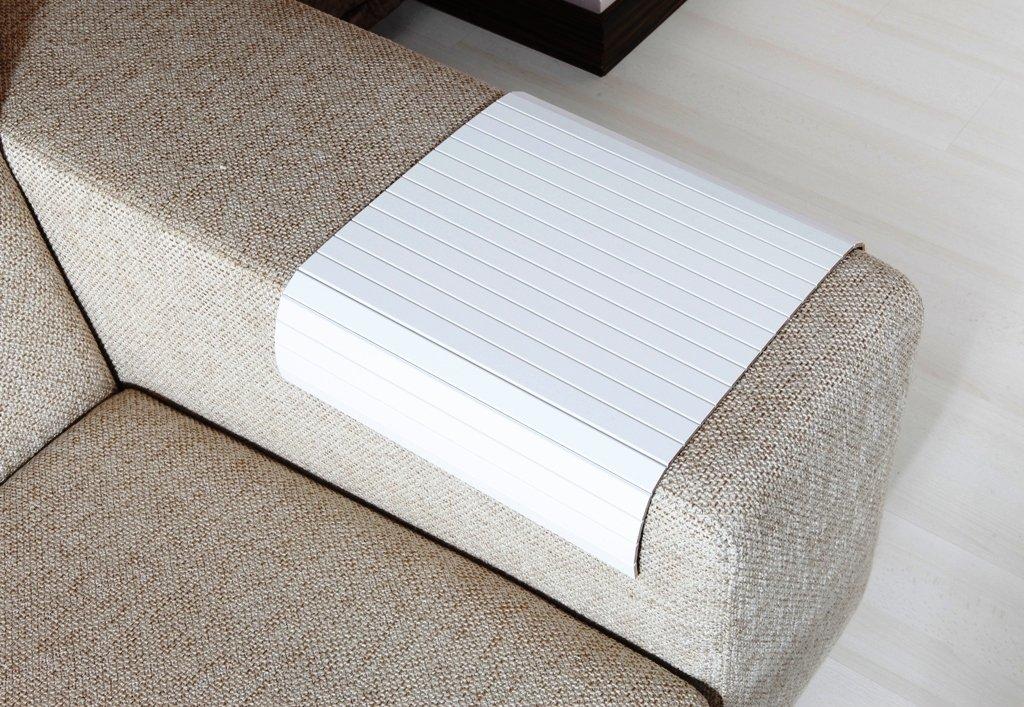 Amazon.com: Sofa Tray Table ( Super White ), Sofa Arm Tray, Armrest Tray,  Sofa Arm Table, Couch Tray, Coffee Table And Lap Desk, Sofa Table, ...