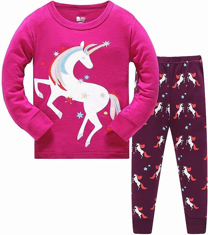 Pijama de Unicornio para niñas de Manga Larga Durante 4-5 años ...