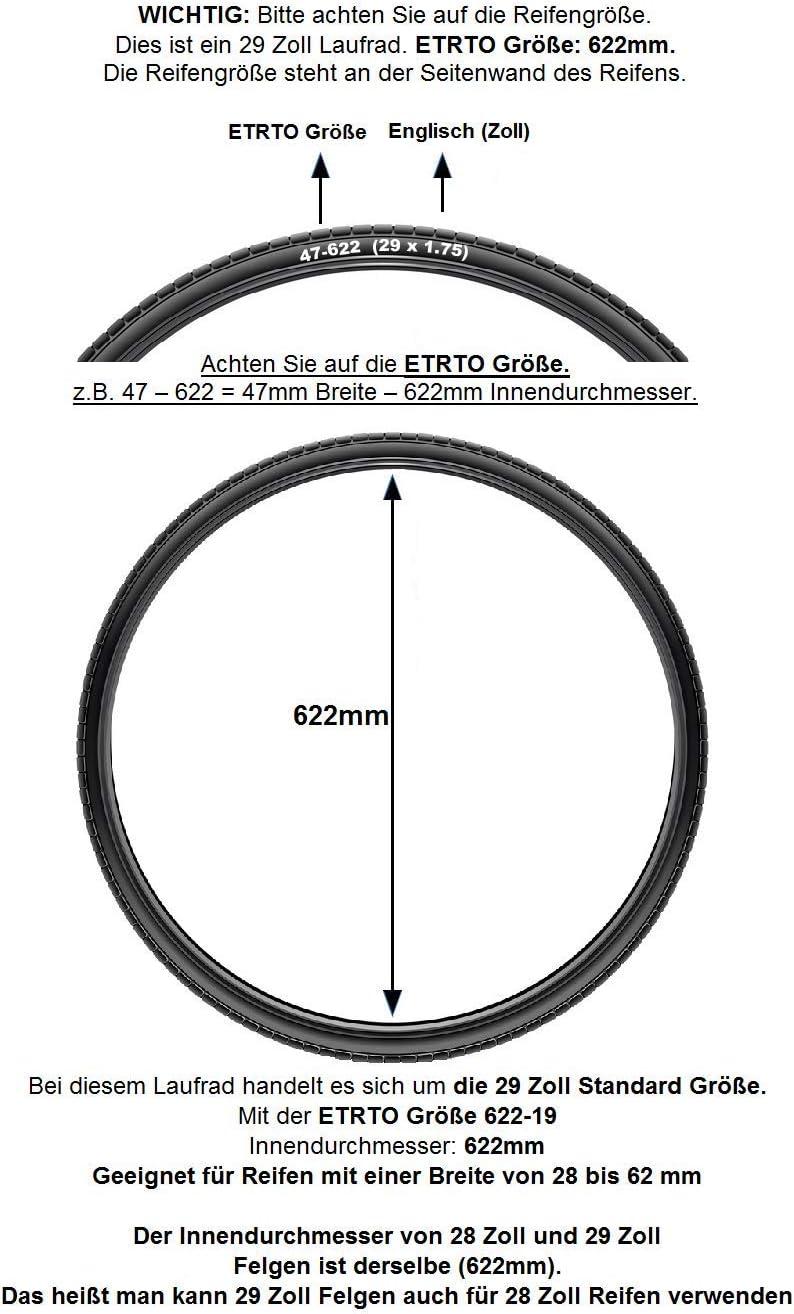 Redondo 29 28 Zoll Hinterrad Laufrad WTB Felge Disc Schwarz 7-Fach Kassette