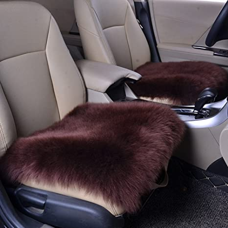 Swell Altopcar Wool Car Interior Seat Cover Fluffy Faux Sheepskin Seat Cushion Pad Winter Mat Universal Fit For Comfort In Auto Plane Office Or Home 18 Pabps2019 Chair Design Images Pabps2019Com