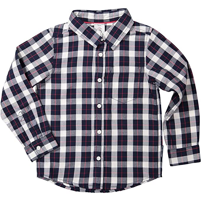 Polarn O Baby Pyret Holiday Check Button Down