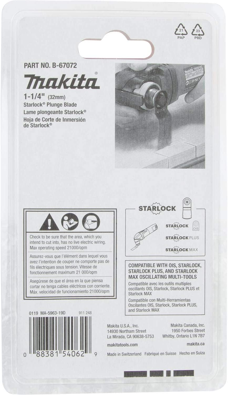 14TPI BiM Makita B-67072 1-1//4 Starlock Plunge Blade