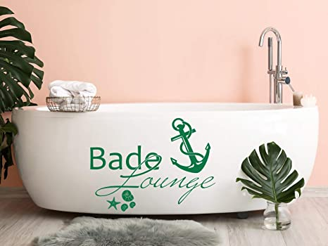 Grazdesign Wandtattoo Bade Lounge Anker Badezimmer Tattoo Maritim Muscheln Und Seestern 40x30cm 071 Grau Amazon De Kuche Haushalt