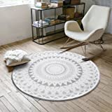Ikea Teppich Flong Rund Kurzflor In 3 Farben Weiss Grau Amazon De
