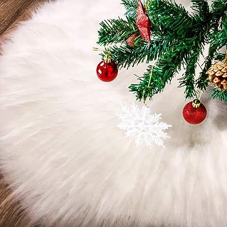 Tatuo Falda de Árbol de Navidad de Piel Falsa Blanca para ...