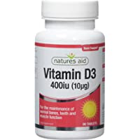 Natures Aid Vitamin D 10ug - Pack of 90 Tablets