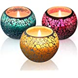 KUD Scented Candles Gift Set, Handmade 3 x 4.4 Oz 100% Natural Soy Glass Candles, Set of 3: Lavender, Rose and Lemon Travel Candle, Use for Aromatherapy, Weddings, Candles (3 Pack)