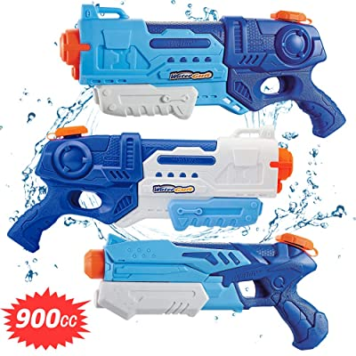 WTOR 3 Pack Super Water Guns Water Blaster Squirt Guns High Capacity Water Fighting Toy Summer Outdoor Swimming Pool Guns for Adults Kids Teens Boys Girls: Toys & Games [5Bkhe0500874]