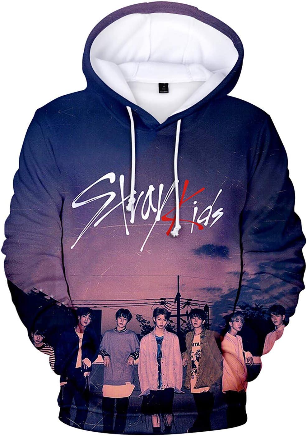 JUNG KOOK Kpop Stray Kids 3D Hoodie Woojin Felix Minho Jisung Sweatershirt Sweater Coat