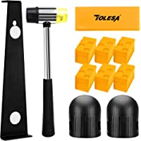 TOLESA Laminate Wood Flooring Installation Kit with 30 Spacers, Heavy Duty Pull Bar, Durable Rubber Tapping Block…
