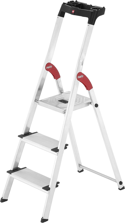Hailo 8040-307 Escalera de tijera aluminio (3 peldaños): Amazon.es: Bricolaje y herramientas
