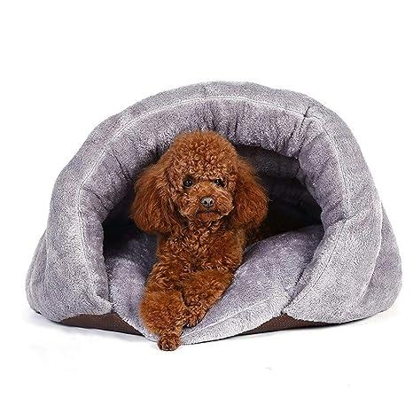 LA VIE Cama de Perros Saco de Dormir cojin Nido de Gato Invierno Cálido Peluche Zona
