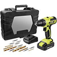 CACOOP 20V MAX Cordless Drill Set with Battery and Rapid Charger, Robust Titanium Plated Drill Bits,LIght Weight Battery…