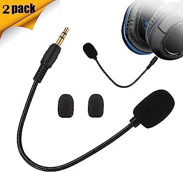 XBC Tech - Pack de 2 micrófonos de repuesto compatibles con auriculares Turtle Beach Ear Force Gaming Xbox One PS4 Nintendo Switch Mac PC PC Gaming: Amazon.es: Electrónica
