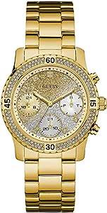 Guess Watches Ladies Sport Steel Reloj para Mujer Analógico de Cuarzo con Brazalete de Acero Inoxidable W0774L5