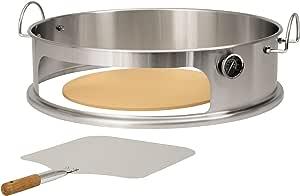 horno para jard/ín horno para pizza al aire libre horno de pellets y pizza Horno para pizza con piedra para pizza terraza BBQ-Toro Pellet