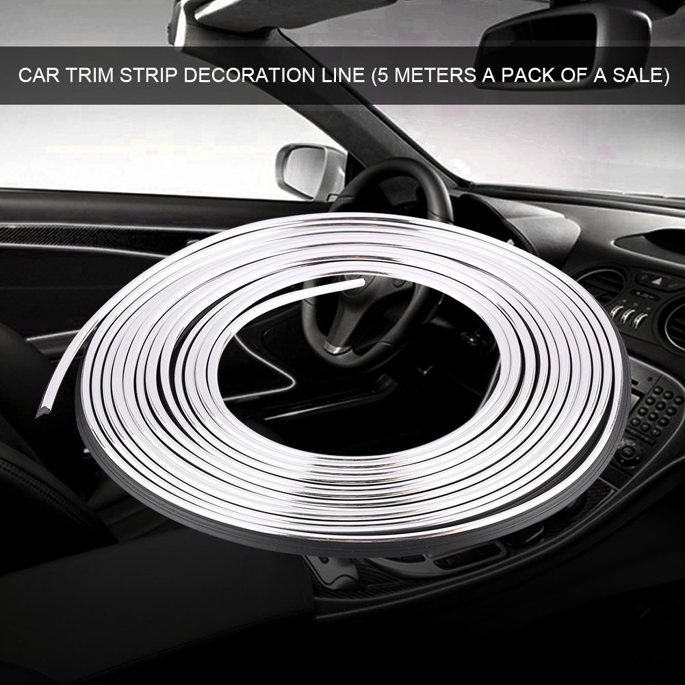 Blau Qiilu Car Interior Molding Strips T/ür Armaturenbrett Air Vent Lenkrad Flexible Decor Line