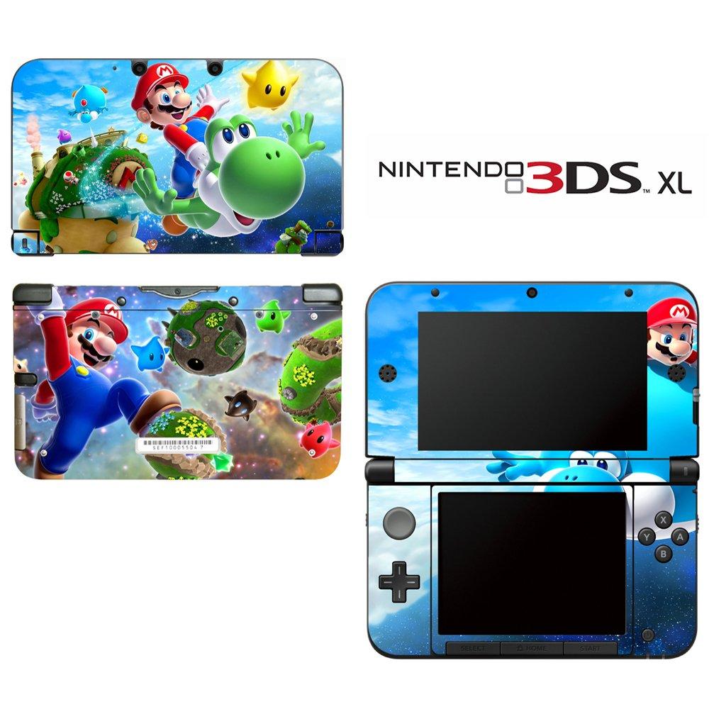 Super Mario Galaxy Yoshi Decorative Video Game Decal Cover Skin Protector for Nintendo 3DS XL