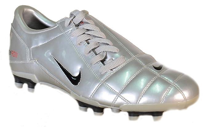 Nike - Nike Total 90 III FG Zapatos Fùtbol Plata Cuero 308231 - Plata, 39: Amazon.es: Ropa y accesorios