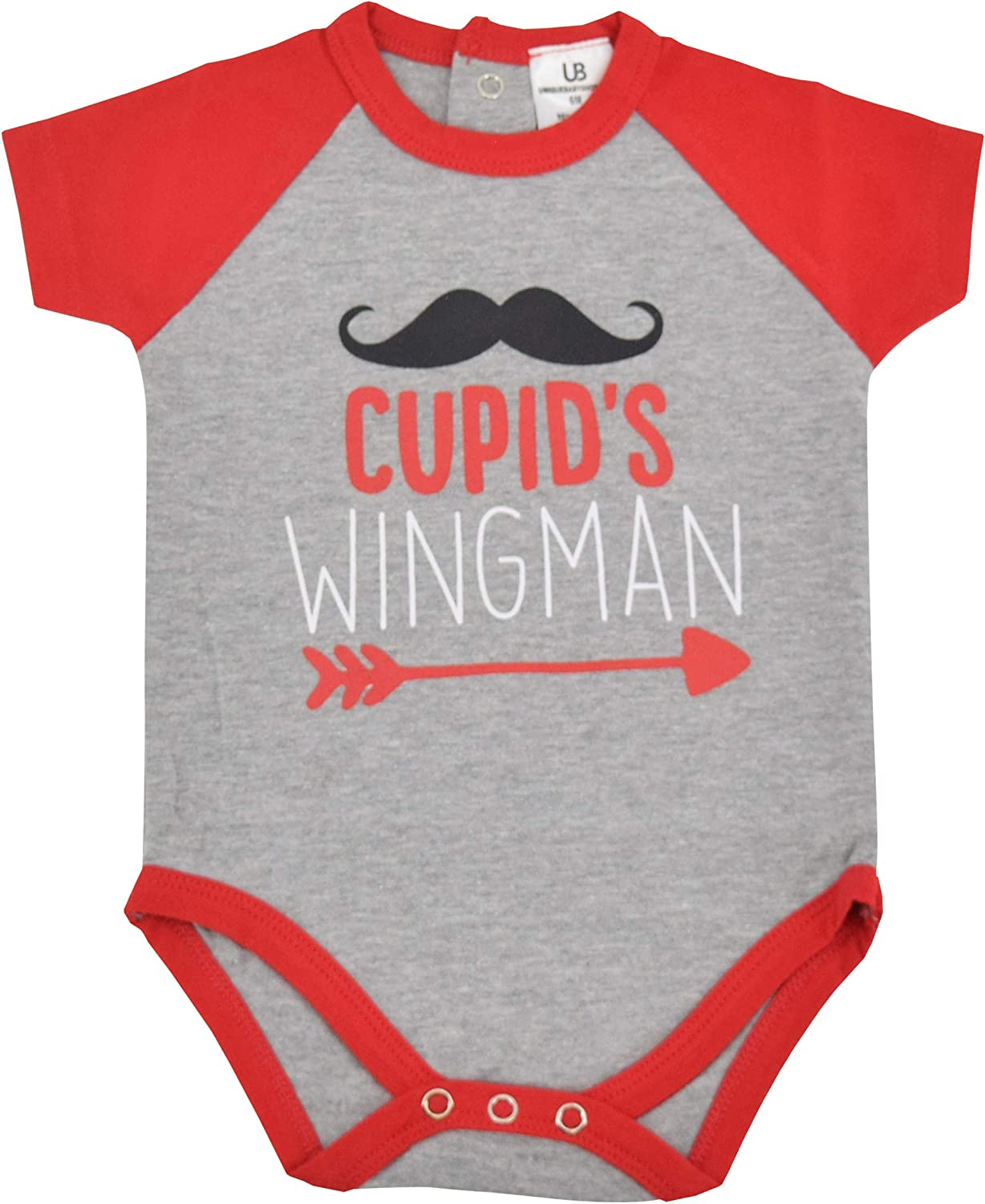 Unique Baby Boys Cupids Wingman Valentines Day One-Piece Layette