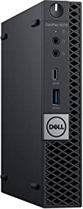 Dell OptiPlex 5070 Desktop Computer - Intel Core i7-9700T - 8GB RAM - 256GB SSD - Micro PC