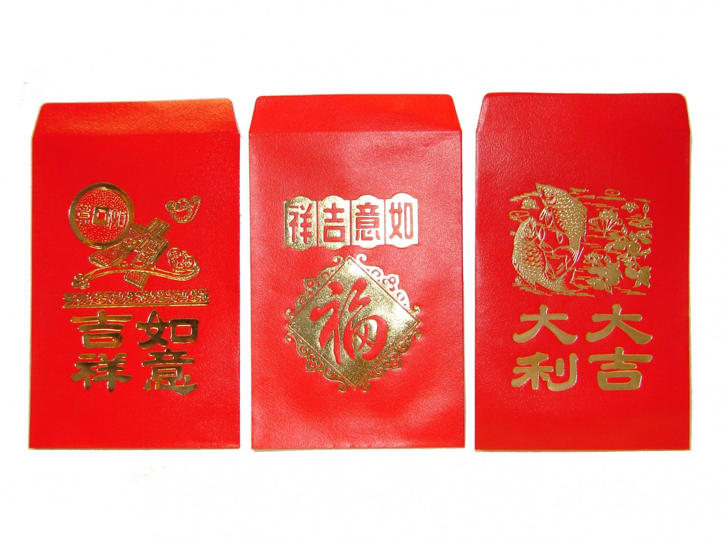 Chinese Classic Red Envelopes for All Occasions Pack of 50 with Three Designs